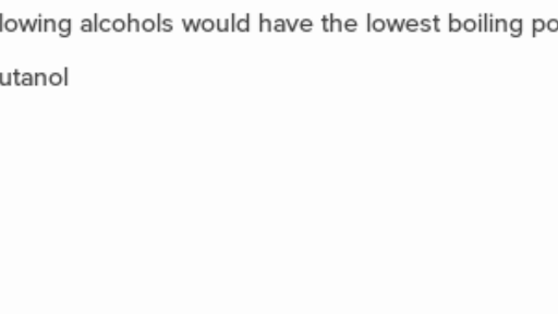 Alcohols And Phenols Questions Practice Khan Academy