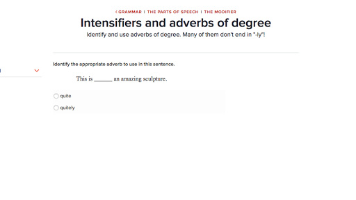 Intensifiers And Adverbs Of Degree Video Khan Academy