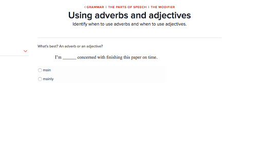 Using Adverbs And Adjectives Practice Khan Academy