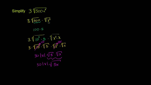 simplifying square roots | algebra (video) | khan academy