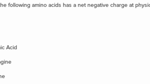 amino acid mcq with answers