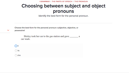 Choosing between subject and object pronouns practice – Pronoun Case Worksheet
