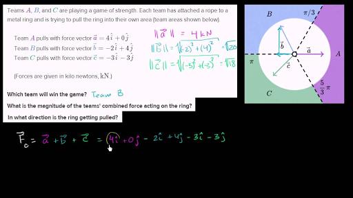 Vector word problems (practice) | Vectors | Khan Academy