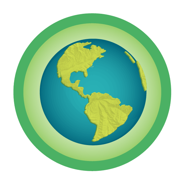 a large illustration of a Earth Badges