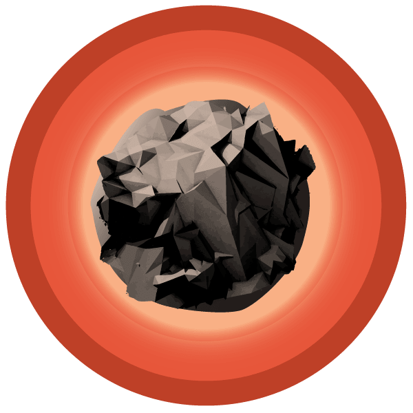 a large illustration of a Meteorite Badges