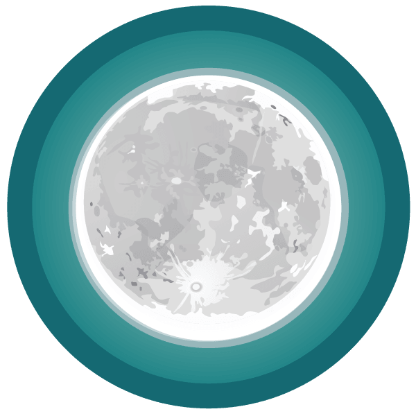 a large illustration of a Moon Badges