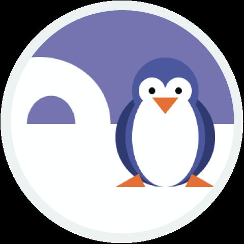 pinguim: um projeto da Hora do Código do ano passado, cortesia de Lydia.