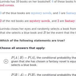 Conditional Probability & the Rules of Probability | High School ...