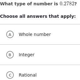 Classify numbers