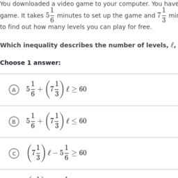 Worksheets Inequality Word Problems Worksheet expressions and equations grade 7 common core map khan academy two step inequality word problems