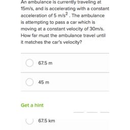 Acceleration questions (practice) | Khan Academy