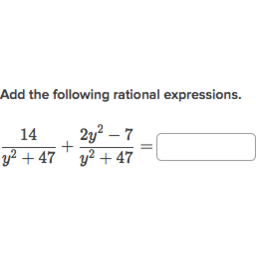 Add & subtract rational expressions: like denominators (practice ...