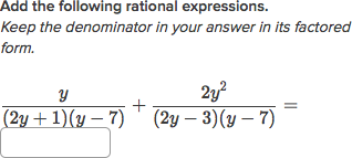 Intro to adding rational expressions with unlike denominators ...