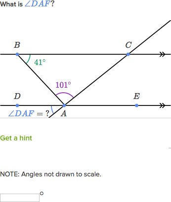 Triangle Exterior Angle Example Video Khan Academy