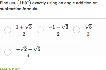 Find trig values using angle addition identities (practice
