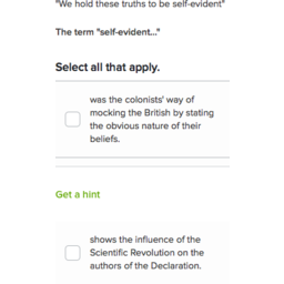 The Declaration Of Independence Practice Khan Academy