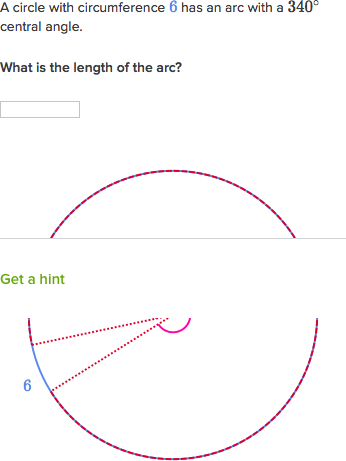 Arc Length Practice Circles Khan Academy