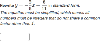 y intercept form to standard form  Convert linear equations to standard form | Algebra ...