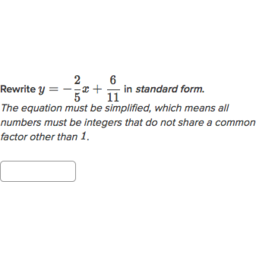 Convert Linear Equations To Standard Form Algebra Practice
