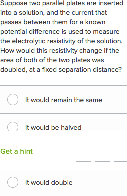 Current and resistance questions (practice) | Khan Academy
