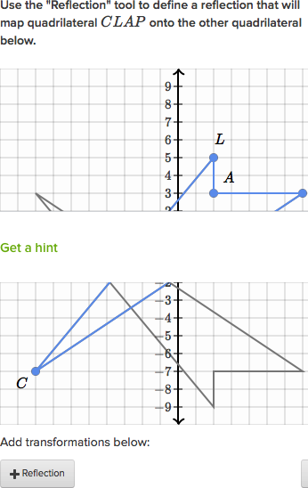 Reflecting Shapes Diagonal Line Of Reflection Video Khan Academy