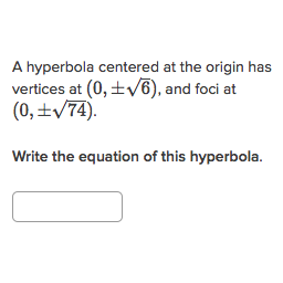 Printables Hyperbola Worksheet equation of a hyperbola from features practice khan academy