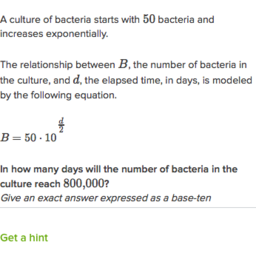 Exponential Model Word Problems Practice Khan Academy