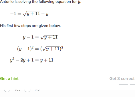 Extraneous Solutions Of Radical Equations Article Khan Academy