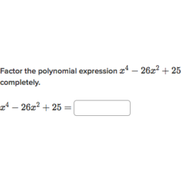 Factor polynomials: special product forms (practice) | Khan Academy