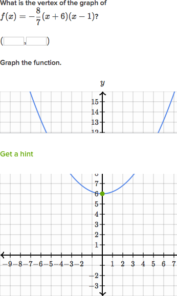 graph quadratics factored form algebra practice khan academy - Graphing Quadratic Functions Worksheet