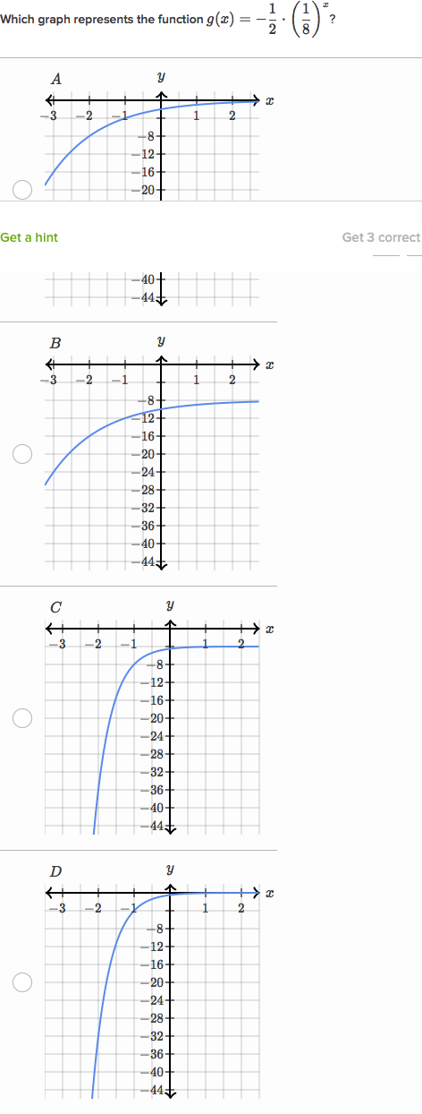 Graphing exponential growth & decay (practice) | Khan Academy