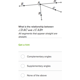 Identifying supplementary complementary and vertical angles (practice) | Khan Academy