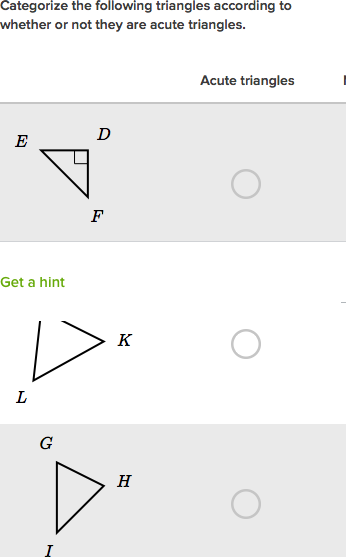 Identify Triangles By Angles Practice Khan Academy