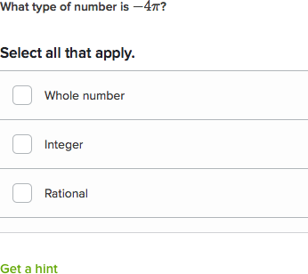 classifying numbers algebra video khan academy - Rational And Irrational Numbers Worksheet