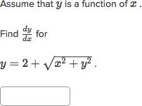 Implicit differentiation homework help
