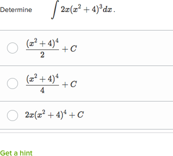 𝘶 Substitution Indefinite Integrals Practice Khan Academy