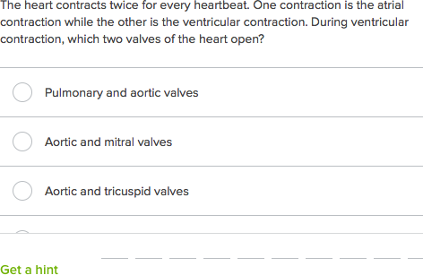 Intermediate Circulatory System Quiz Practice Khan Academy