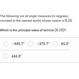 Evaluate inverse trig functions | The inverse trigonometric ...