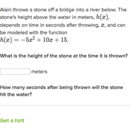 Quadratic word problems (standard form) (practice) | Khan Academy