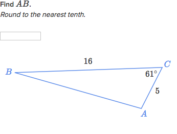 Solve Triangles Using The Law Of Cosines Practice Khan Academy