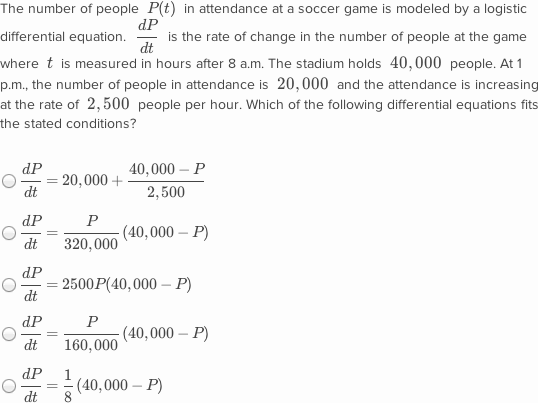 Differential equations: logistic model word problems