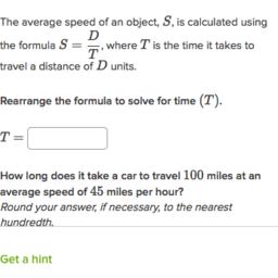 Manipulate Formulas Practice Modeling Khan Academy