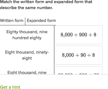 how to write in expanded form Write any number with an 8 in the hundred thousands place 12 write any number that has a 2 in the millions place 13 write any number expanded form.