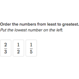 order fractions practice  fractions  khan academy