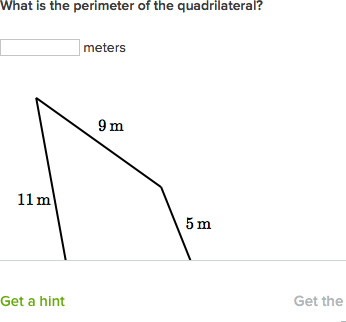 find perimeter when given side lengths practice khan academy
