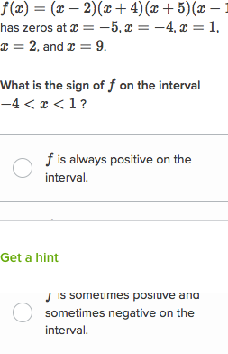 Positive Negative Intervals Of Polynomials Article