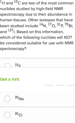 Proton Nuclear Magnetic Resonance Questions Practice Khan Academy