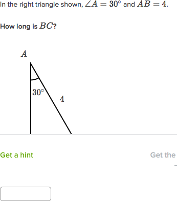 Special right triangles (practice) | Khan Academy