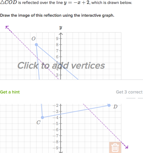 Drawing Lines Of Reflection : Reflection math exercises advanced reflections