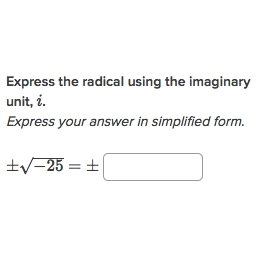 Simplify Roots Of Negative Numbers Practice Khan Academy